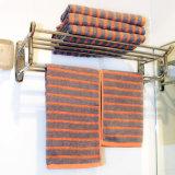 工場価格のしまのあるジャカード浴室タオル