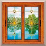 Aluminiumbüro-Innenschiebendes Fenster-Glashersteller mit dekorativem Fenster-Gitter