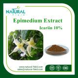 Выдержка Epimedium выдержки завода поставкы фабрики, Icariin 98%, Icariin