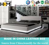 LED 빛 (HC565)를 가진 특대 가죽 현대 가죽 침대