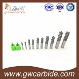 Fraise en bout de carbure de tungstène avec de diverses tailles