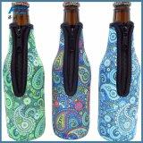 オープナが付いているネオプレンのビール瓶のホールダーの短いホールダー