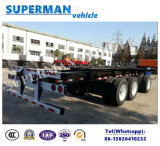Utilitaire Spécial Skeletal Frame Container Semi Truck Trailer for Cargo