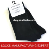 100% puro Negro de bambú del calcetín (UBB-001)