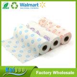 Breakpoint tecidos de fibra de bambu Pano, Impresso em rolo Pano de limpeza