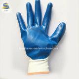 Безопасности рабочие перчатки нитриловые перчатки покрытия в синий цвет