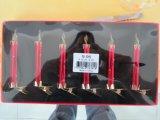 Bougie en verre de Noël avec Siliver Goldon et couleur