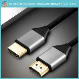 이더네트 오디오 반환을%s 가진 HD 18gbps 땋는 Kabel 3D 4K HDMI 케이블