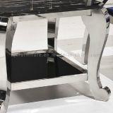 Tabela lateral do escritório com a tabela de extremidade do mármore do pé do aço inoxidável