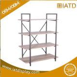 Sauter vers le haut le stand en bois d'exposition d'étalage de livre pour le produit de beauté/papeterie