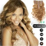 Extensão brasileira do cabelo da onda da natureza humana do Virgin maioria real de 100%