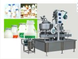 Relleno del papel de aluminio de la leche de la botella y máquina automáticos llenos del lacre