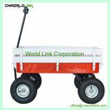 Los niños en movimiento pesado carro Carro de la playa de madera