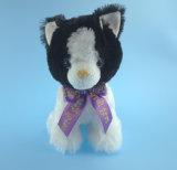 Juguetes de gato suave con cinta púrpura