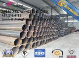 Tubos de acero de carbón del API 5L/ASTM A53/JIS G3454 STPG370 ERW