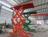 Levage vertical de véhicule de ciseaux de charge lourde hydraulique