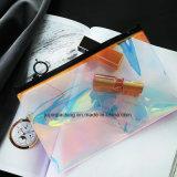Kühler Laser-transparenter frischer Künstler-Speicher-Beutel-runde Form-Bleistift-Beutel (JPlaser Beutel 001)