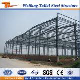 Aufbau FertigBuilidng helle Stahlkonstruktion
