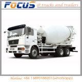 Carro del tanque cúbico del mezclador concreto de China Shacman 9 para la construcción del edificio