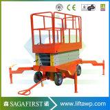 12m plate-forme aérienne de levage de ciseaux automatiques hydrauliques de 4 roues