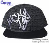 Custom 3D вышивкой логотипа Snapback Red Hat с поставщиком