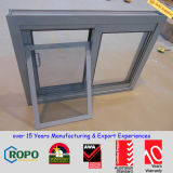 Color gris de recubrimiento en polvo de doble acristalamiento de aluminio se deslizan / ventanas correderas