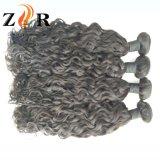 2017新しい到着のブラジルのバージンの巻き毛に人間の毛髪の編むこと