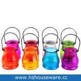 Os titulares de Velas em vidro colorido com pega