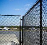 Do jogo revestido do campo de futebol do PVC cerca à terra da ligação Chain