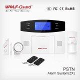 Système d'alarme de PSTN avec l'écran et la voix (sans fil/de câble) (433MHz ou 315MHz)