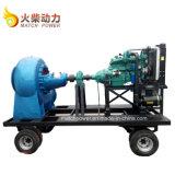 높은 교류 놓인 이동할 수 있는 디젤 엔진 수도 펌프는/교류 펌프 트레일러 90kw를 섞었다