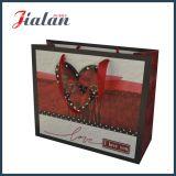 мешок Suqare высокого качества бумаги 210g цвета слоновой кости напечатанный сердцем бумажный