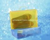 Коробка ботинка ручки пакетов складчатости пластмассы PP кристаллический (HH05)