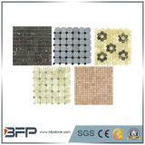 Cinza / Branco / Amarelo Pedra natural de medalha de mármore para azulejos