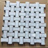 Mosaico di marmo bianco della pietra del granito della Cina Bianco Carrara per la parete della stanza da bagno