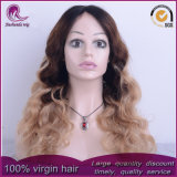 Parrucca piena del merletto dei capelli indiani dell'onda di acqua di colori di Ombre 3