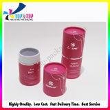 Rectángulo de regalo plegable de sellado de plata del cilindro de papel de la alta calidad