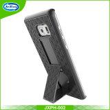 Samsung Note7のための新しい到着の携帯電話の箱の織り方パターンホルスターのコンボの箱
