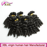 Nova textura do cabelo Virgem de ondulação do bebé trama cabelos europeu