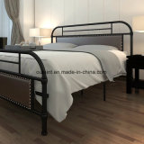 Morden Metalldoppeltes Bett mit Polsterung-Dekoration (OL17195)