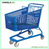 4つの車輪の金属のスーパーマーケットのトロリー金属の買物車
