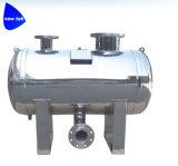 フランジが付いている水平のステンレス鋼のガスの貯蔵タンク