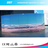 En la pared P10mm exterior impermeable color fijo pantalla LED curvada