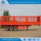 Heet Koolstofstaal 3 van de Verkoop De Staak van Assen/de Zij Semi Aanhangwagen van de Vrachtwagen van de Raad/van de Omheining voor Lading/Fruit/Vee/Mineraal
