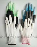 La paume d'unité centrale (polyuréthane) a enduit des gants de travail de sûreté