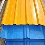 Baumaterial-höchste Vollkommenheit walzte heiße eingetauchte gewölbtes vorgestrichene Farbe beschichtete PPGI PPGL Galvalume galvanisierte Stahlplatte des Dach-Dach-Zink kalt