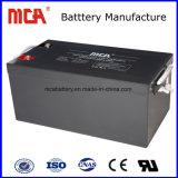 Garantía de 5 años de ciclo profundo 12V del vehículo eléctrico de batería solar Gel 75Ah