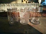 Vaso di vetro all'ingrosso allo zucchero di Brown di memoria/allo zucchero bianco