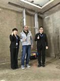 Mur électrique plâtrant la machine de robot de rendu