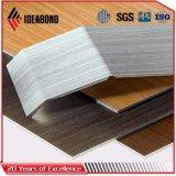 Dekorativer hölzerner Blick-zusammengesetztes Aluminiumpanel für Decke